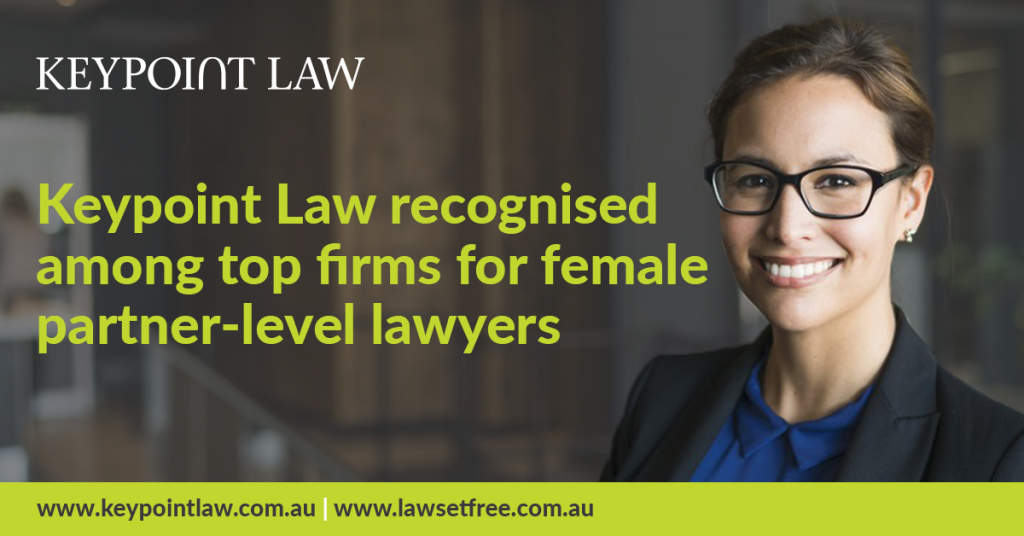 Keypoint Law recognised among top law firms for female partner-level lawyers
